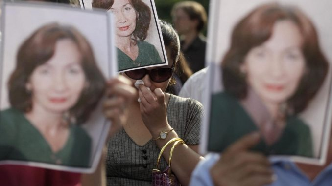 Chechen human rights activist Natalia Estemirova was murdered on July 15, 2009. (AFP/Getty Images)